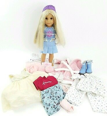 AMERICAN GIRL Truly Me™ Doll: Light Skin, Long Blonde Hair, Brown  ++ CLOTHES!!