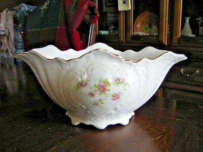 Edwin M. Knowles China Co. Serving Bowl - Semi Vitreous - Roses