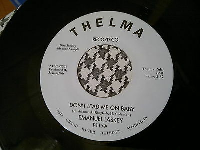 "EMANUEL LASKEY - Don't Lead Me On Baby - THELMA  45s""   NORTHERN SOUL"