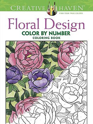 Creative Haven Floral Design Color By Number Book