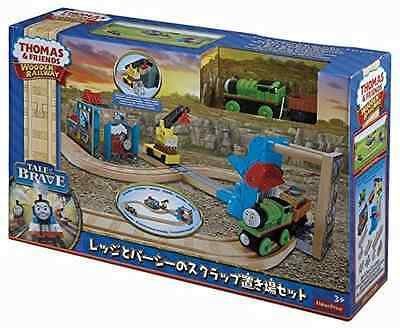 Fisher-Price Thomas the Train Wooden Railway Reg and Percy at The Scrapyard