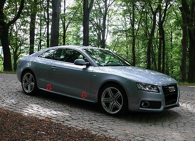 AUDI A5 COUPE S5 S-LINE LOOK SIDE SKIRTS / SPOILERS PU-Plastic NEW !!!