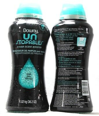 2 Downy Un Stopables In Wash Scent Booster Fresh Scent 36.2 oz.
