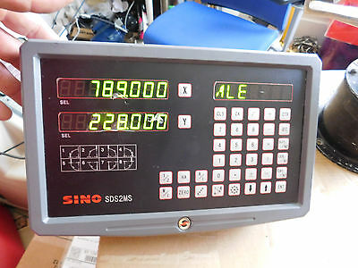 2-Axis Digital Readout DRO SINO SDS2MS SDS 2-2MS Lathe Spark and Milling nachine