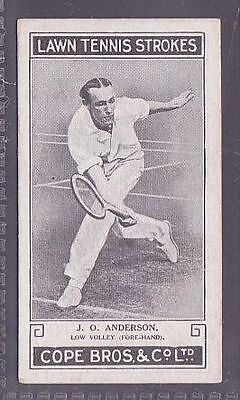 From a set of 25 Lawn Tennis Strokes issued by Cope in 1924 no.9 J.O. Anderson