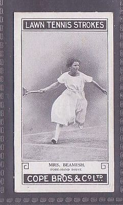 From a set of 25 Lawn Tennis Strokes issued by Cope in 1924 no.18 Miss Beamish