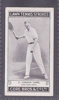From a set of 25 Lawn Tennis Strokes issued by Cope in 1924 no.12 Gordon Lowe
