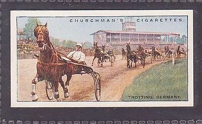 """From 25 """"Sports & Games in Many Lands"""" by Churchman 1929 no.8 Trotting Germany"""