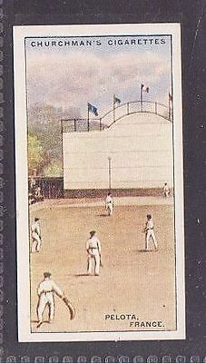 """From 25 """"Sports & Games in Many Lands"""" by Churchman 1929 no.7 Pelota France"""