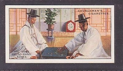 """From 25 """"Sports & Games in Many Lands"""" by Churchman 1929 no.16 Go-bang Korea"""