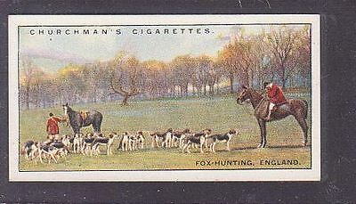 """From 25 """"Sports & Games in Many Lands"""" by Churchman 1929 #6 Fox Hunting England"""