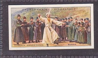 """From 25 """"Sports & Games in Many Lands"""" by Churchman 1929 #19 Sword dance Russia"""