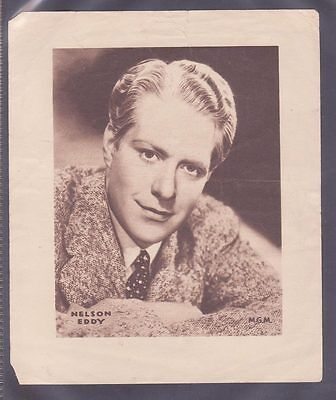 Film Stars 1930s Insert 166x138mm issued by DC Thomson features Nelson Eddy