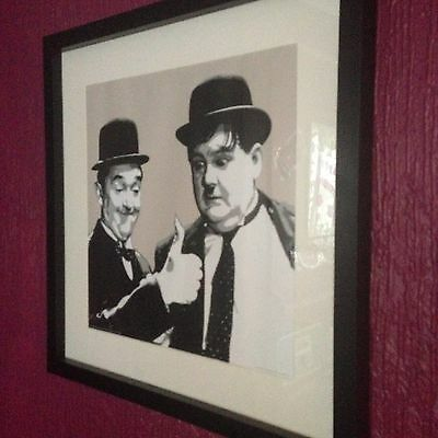 Laurel And Hardy Framed Picture