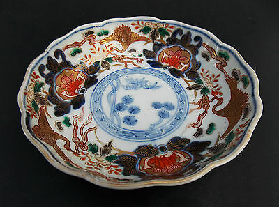 Imari Arita Scalloped Edge Dish Bowl Meiji Period Antique Japanese 19th Century