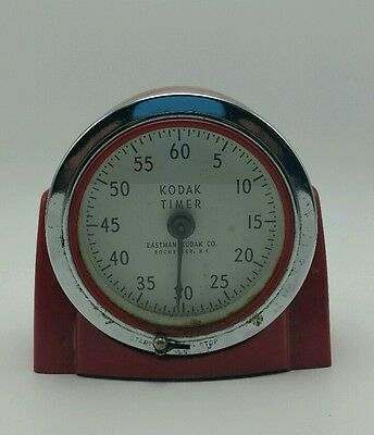 Vintage * Eastman Kodak Red Art Deco Style Darkroom Timer No. 8239 * Photography