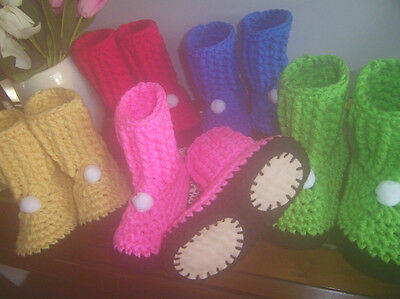 Slipper Boots Unisex Boot Slippers House Slippers Crocheted Shoes