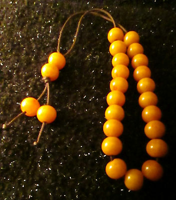 Bakelite Butterscotch Prayer Beads