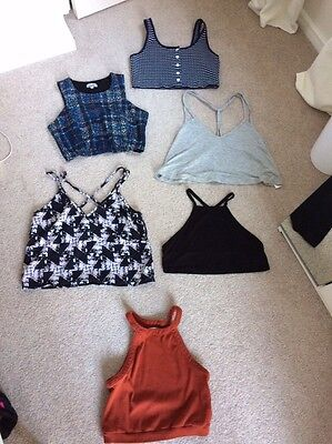 Bundle Of Size 12 Asos Crop Tops