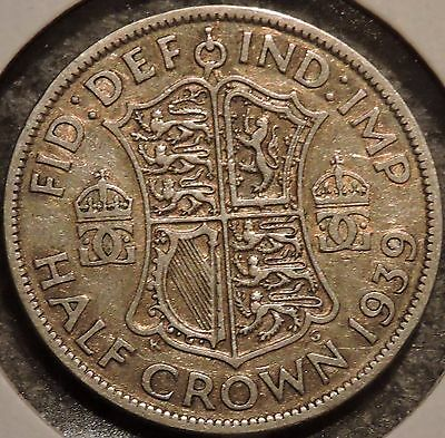British Silver Half Crown - 1939 - King George VI - $1 Unlimited Shipping