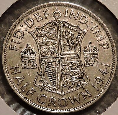 British Silver Half Crown - 1941 - King George VI - $1 Unlimited Shipping