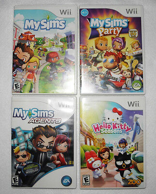 My Sims Hello Kitty Wii Game Lot Sims Party Sims Agents