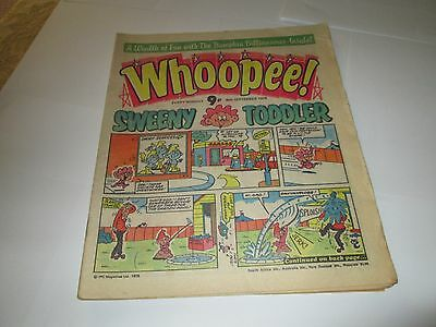 3 x WHOOPEE !  COMICS +  MARCH / AUGUST + SEPTEMBER  1978 +  CARTOONS
