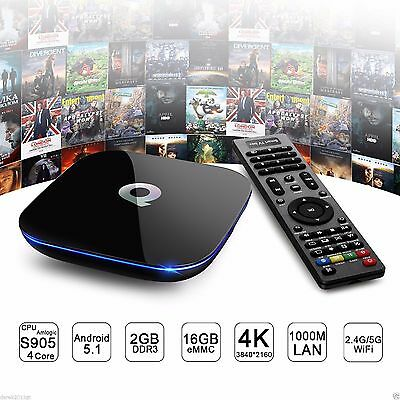 Q-BOX 4K*2K Smart TV BOX Android 5.1 QuadCore 2GB/16GB Dual WIFI KODI/XBMC HDMI