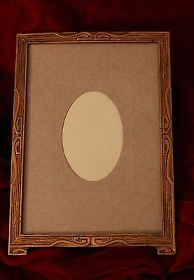 """Antique Arts and Crafts Era Picture Frame 7 3/4"""""""" x 10 3/4"""""""