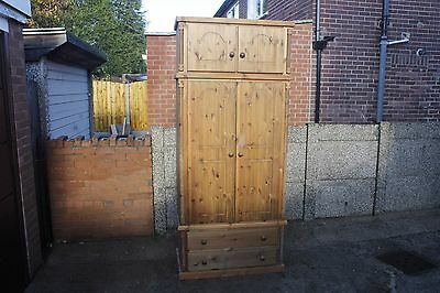 Wooden Two doors wardrobe with drawers