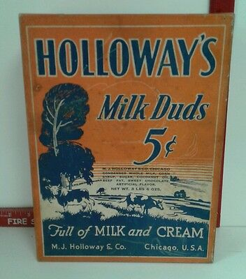 Vintage Holloway's Milk Duds candy box