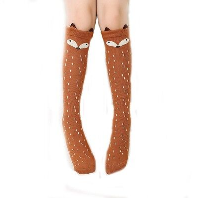 Brown New Baby Kid Girls Knee High Socks Tights Leg Warmer Stocking For Age 3-10