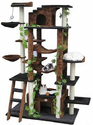 Deluxe Cat Tree Tower Pet House Jungle Playground Condo Den Play Fun Toy Bed Box