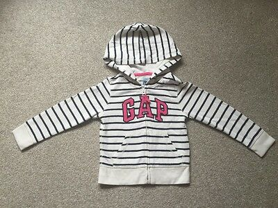 Gap Girls White With Navy Stripes Jacket Age 3 Years