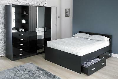 Carleton High Gloss Mirrored Combi Unit in a choice of styles