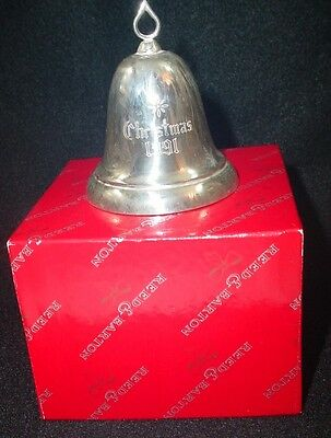 1991 Reed Barton Sterling Silver Xmas bell Ornament Engraved Christmas Tradition