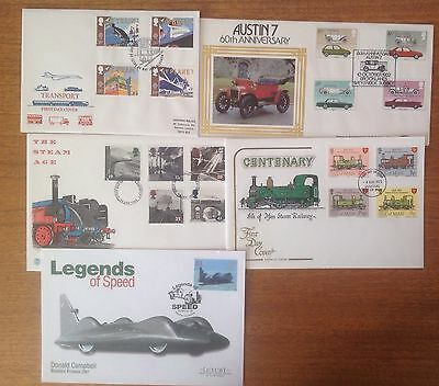 Bundle Of 5 Assorted First Day Covers