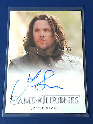 Game of Thrones Season 1 Autograph Card Jamie Sives as Jory Cassel Full Bleed