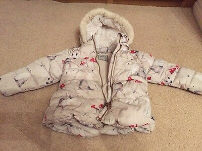NEXT Girls Winter Coat Age 2-3 Years in Great Condition A/W 15/16 Collection