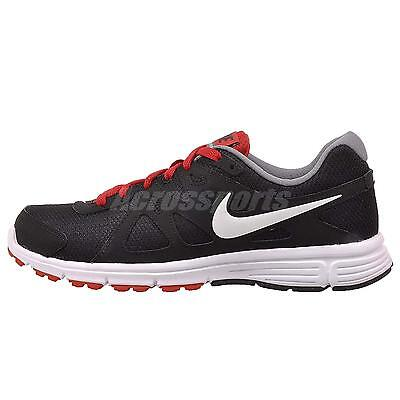 Nike Revolution 2 Mens Running Shoes Sneakers Black Red Gray 554953-016