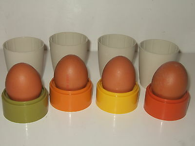 4 x Colourful Tupperware Egg Cups And Covers