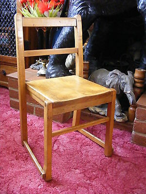 Mid Century Retro Old Vintage Wooden School Children Kids Chair