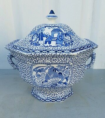 "william adams ""chinese bird"" pattern soup tureen ."