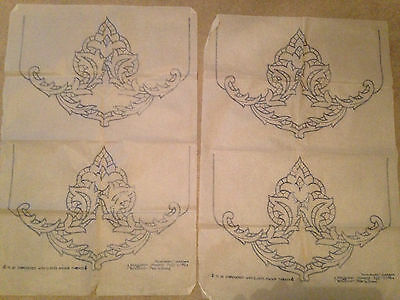 Renaissance chair and settee backs Briggs embroidery transfer,  Vintage,