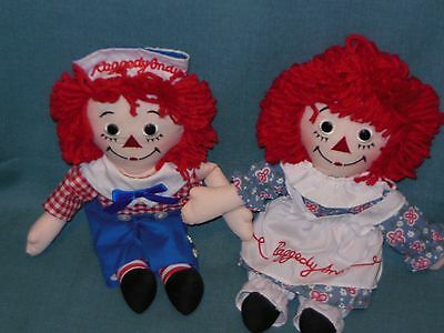"""Vintage 12"""" Raggedy Ann & Andy Dolls By Applause"""
