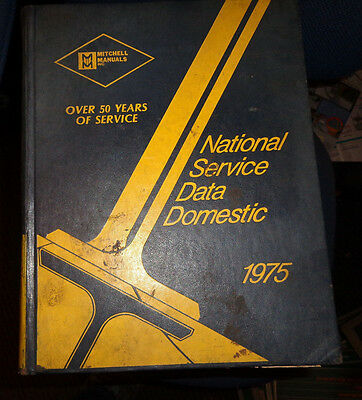 MITCHELL Manuals National Service Data Domestic - 1975 Final