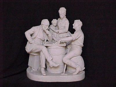 John Rogers Group of Statuary ' Checkers Up At The Farm '