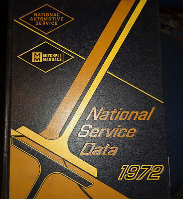 MITCHELL Manuals National Service Data Domestic - 1972 Final