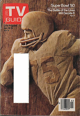 1980 TV GUIDE Super Bowl '80 The Battle of the Lines Will Decide It Jan 19-26