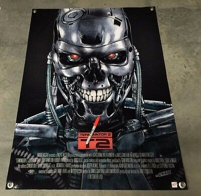terminator figure action poster t2 robot movie film banner model metal book